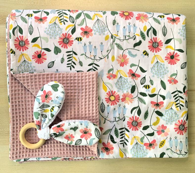 χειροποιητη πικε κουβέρτα flowers 3