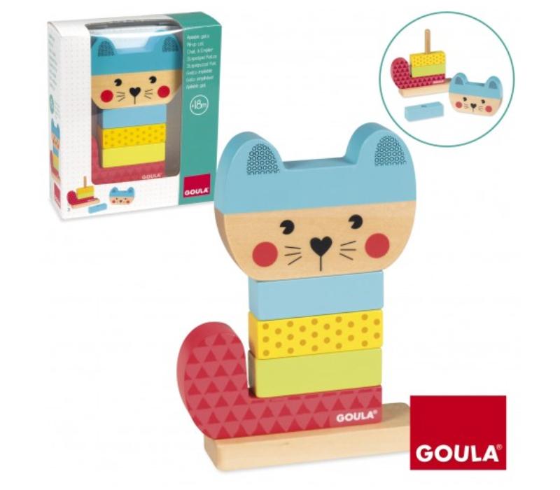 Goula Ξύλινη πυραμίδα ταξινόμησης Γάτα