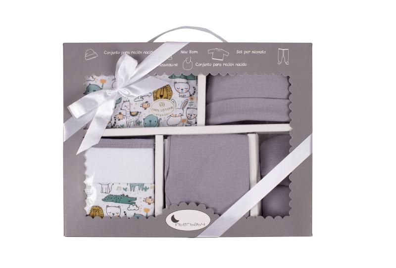 Interbaby σετ δώρο γέννησης - ρουχαλάκια (γκρι) 2