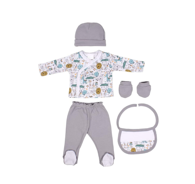 Interbaby σετ δώρο γέννησης - ρουχαλάκια (γκρι)